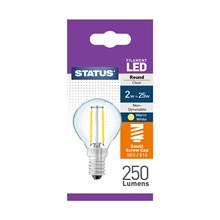 STATUS - FILAMENT GOLF CLEAR LED BULB - SES 2W~25W
