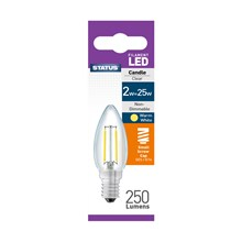 STATUS - FILAMENT CANDLE CLEAR LED BULB - SES 2W25