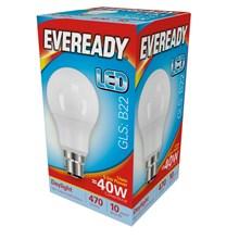 EVEREADY LED BULB - GLS DAYLIGHT - B22 5.5W-40W