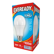 EVEREADY LED BULB - GLS B22 DAYLIGHT - 13W/100W
