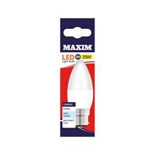 MAXIM LED BULB - CANDLE DAY LIGHT - BC 3W/25W