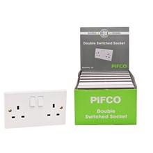 PIFCO - 2 GANG SWITCHED SOCKET BULK