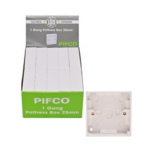PIFCO - 1 GANG PATTRESS BOX