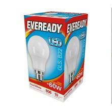 EVEREADY LED BULB - GLS COOL WHITE - B22 8.2W-60W