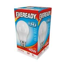 EVEREADY LED BULB - GLS COOL WHITE - B22 5.5W-40W