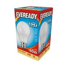 EVEREADY LED BULB - GLS WARM WHITE - B22 8.2W-60W