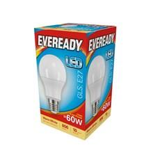 EVEREADY LED BULB - GLS WARM WHITE - E27 8.2W-60W