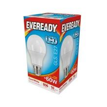 EVEREADY LED BULB - GLS COOL WHITE - E27 8.2W-60W