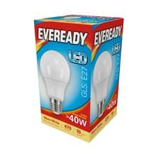 EVEREADY LED BULB - GLS WARM WHITE - E27 5.5W-40W