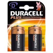 DURACELL PLUS POWER D - 2 PACK