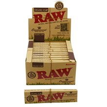 RAW ORGANIC CONNOISSEUR PAPERS + TIPS - 24 PACK