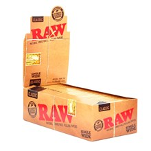RAW CLASSIC SINGLE WIDE PAPERS - 50 PACK