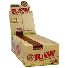 RAW ORGANIC SINGLE WIDE PAPERS - 50 PACK