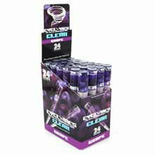 CLEAR CYCLONE CONES - GRAPE - 24 PACK