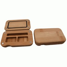 SMALL BAMBOO BACK FLIP ROLLING TRAY