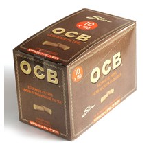 OCB UNBLEACHED VIRGIN SLIM 10 X 150 FILTER TIPS