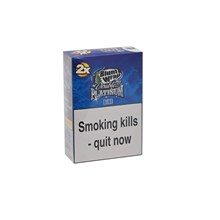 DOUBLE PLATINUM 2X BLUE BLUNT WRAPS - 25 PACK