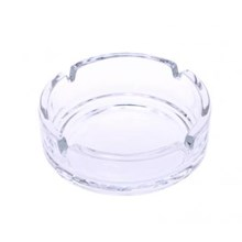 CHAMP ROUND GLASS ASHTRAY