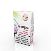 88 VAPE E-LIQUID 11MG SWEET STRAWBERRY 10ML