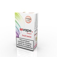 88 VAPE E-LIQUID 11MG FRUIT TWIST 10ML