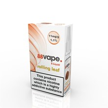 88 VAPE E-LIQUID 11MG ROLLING LEAF 10ML