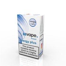 88 VAPE E-LIQUID 16MG ENERGY PLUS 10ML