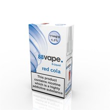88 VAPE E-LIQUID 11MG RED COLA 10ML