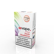 88 VAPE E-LIQUID 11MG FRESH BLUEBERRY 10ML