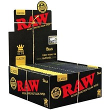 RAW BLACK KING SIZE CLASSIC SLIM PAPERS - 50 PACK