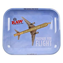 RAW SMALL ROLLING TRAY BLUE PLANE
