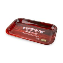 ELEMENTS SMALL ROLLING TRAY RED