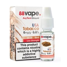 88 VAPE ANYTANK - 6MG USA TOBACCO 10ML