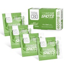 TOTAL CBD - MINT 400MG TONGUE SHOTS - 4 SACHETS