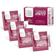 TOTAL CBD - MINT 800MG TONGUE SHOTS - 4 SACHETS