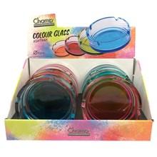CHAMP - COLOURED GLASS ASHTRAY - 10.5CM