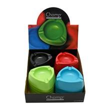 CHAMP - PLASTIC ASHTRAY - 4ASST