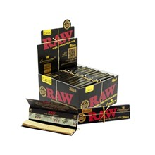 RAW BLACK CONNOISSEUR PAPERS + TIPS - 24 PACK