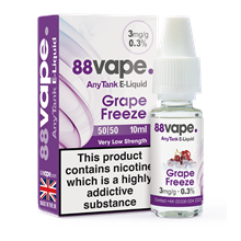88 VAPE ANYTANK - 3MG GRAPE FREEZE - 10ML