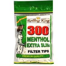 ROLLING KING - EXTRA SLIM MENTHOL TIPS - 300 PACK