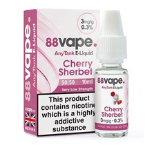 88 VAPE ANYTANK - 3MG CHERRY SHERBET - 10ML