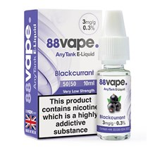 88 VAPE ANYTANK - 3MG BLACKCURRANT - 10ML