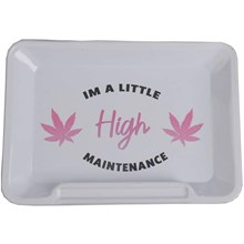 METAL ROLLING TRAY - HIGH - SMALL - 20L X 15W CM