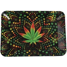 METAL ROLLING TRAY - LEAF - SMALL - 20L X 15W