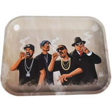 METAL ROLLING TRAY - RAPPERS - LARGE
