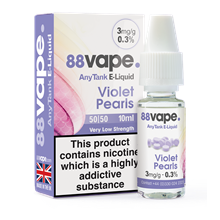88 VAPE ANYTANK - 3MG VIOLET PEARLS - 10 ML
