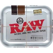 RAW ROLLING TRAY - METALLIC SILVER - MEDIUM