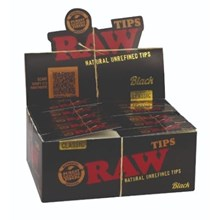 RAW BLACK - PAPER TIPS - 50 PACK
