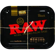 RAW - BLACK ROLLING TRAY - LARGE
