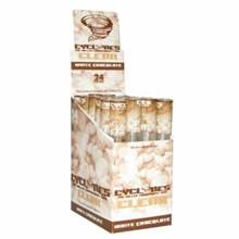 CLEAR CYCLONE CONES - WHITE CHOC - 24PACK