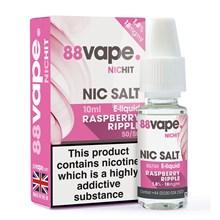 88 VAPE - 18MG NIC SALT RASPBERRY RIPPLE -10ML